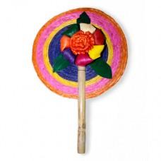 Abanico con flor colores