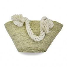 Bolsa costureada chica con asa de algodón